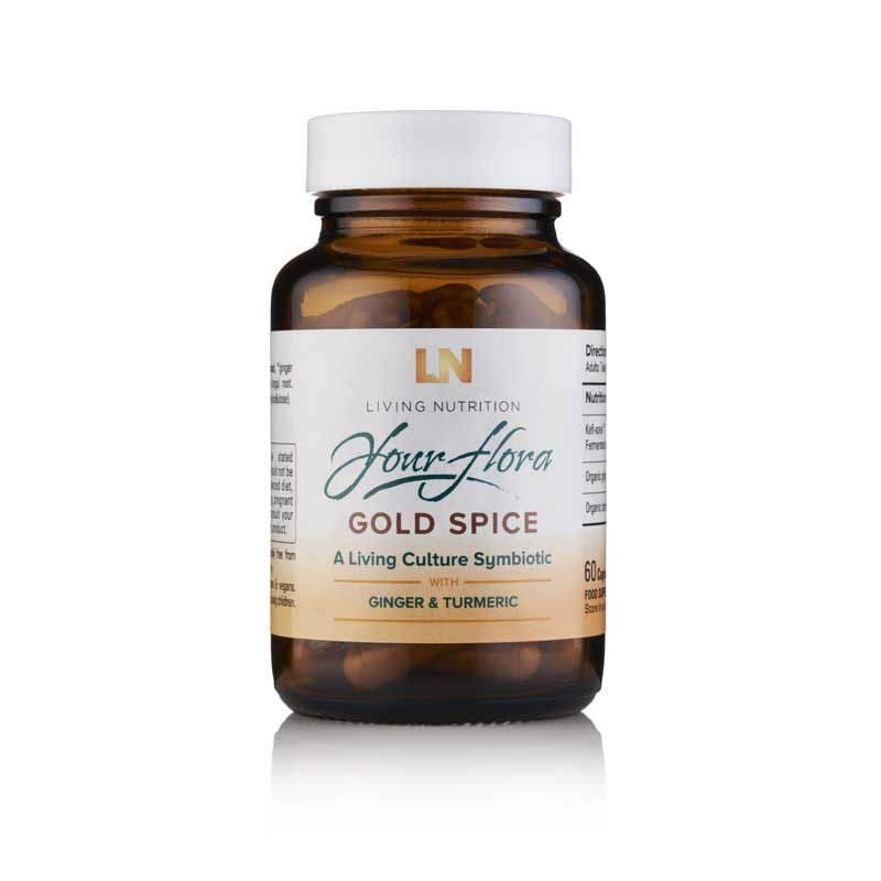 Living Nutrition Gold Spice Symbiotic Fermented Herbal Supplements