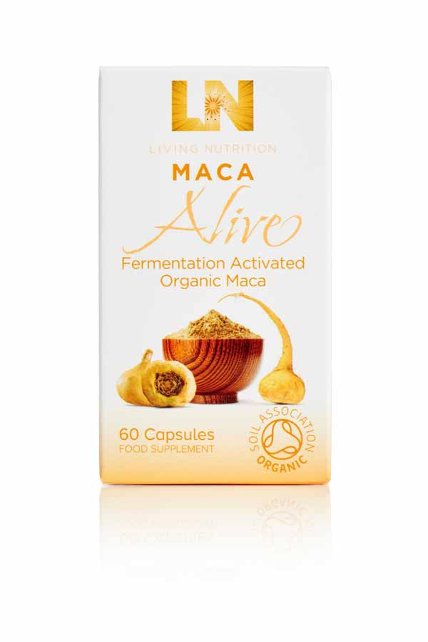Living Nutrition fermented Maca herbal supplements
