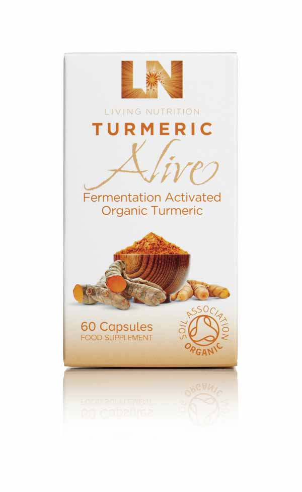 Living Nutrition fermented Turmeric herbal supplements